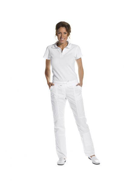 LEiBER slim style Damenhose weiß mit Kordeltunnelzug 08-6890