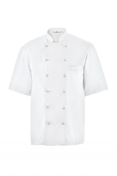 GREIFF - style 742 Kochjacke kurzarm weiß