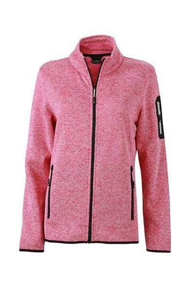 Damen Fleecejacke pink-melange Tradition Daiber