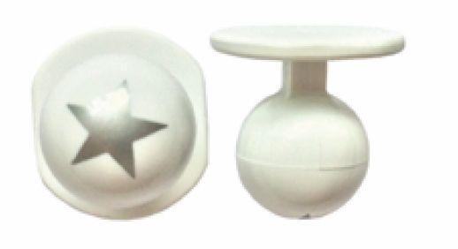 Exner Kugelknöpfe mit Silberstern - 1 Pack mit 12 Stück