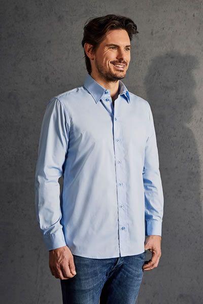 Modernes Langarm-Popeline Hemd für Herren | Promodoro 6310