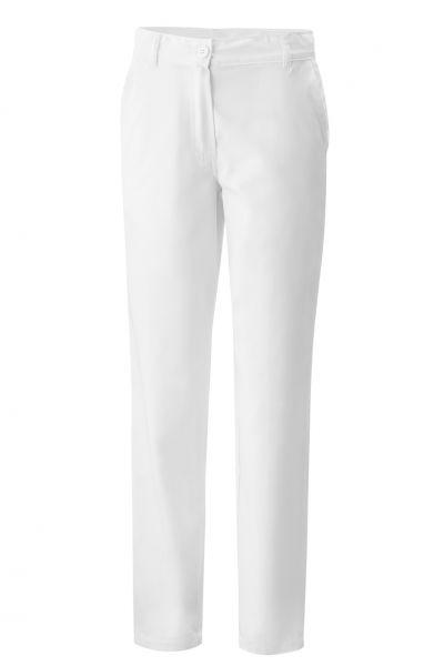 Exner Damenkochhose mit Knopf in weiß