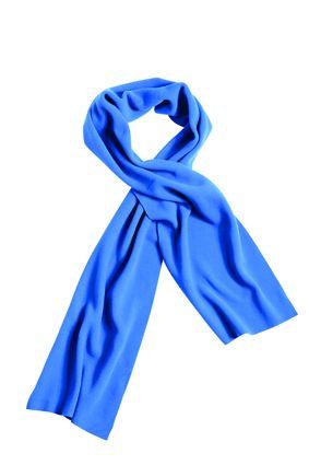 Extrabreiter Fleece Schal blau