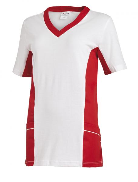 Piqué Damen Schlupfjacke weiß/rot Leiber 082531