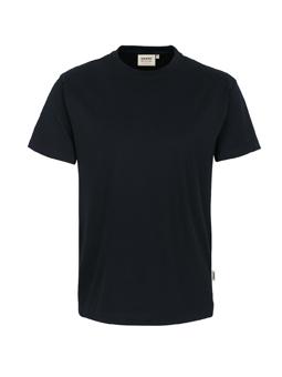Herren Shirt in Schwarz mit Rundhals-Ausschnitt