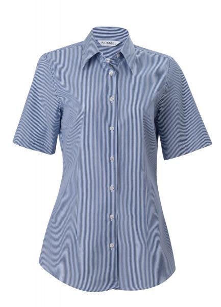 Damen Hemd blau gestreift kurzarm Sophia KÜMMEL