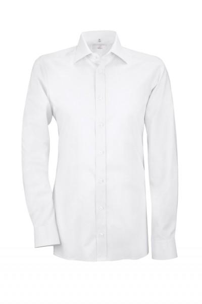 GREIFF modern - style 6689 Herrenhemd langarm in weiß   schwarz - slim fit