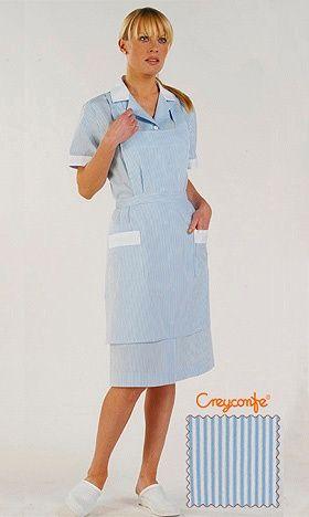 Zimmermädchenkleid hellblau Hellin Creyconfe
