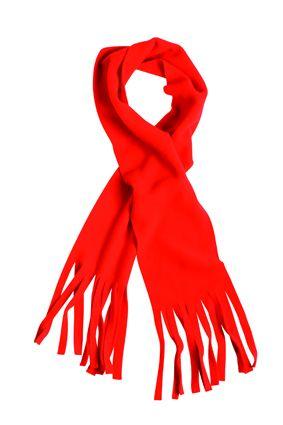 klassischer Fleece Schal rot
