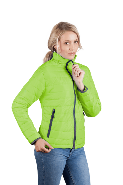 Wattierte Damen Jacke lemon green