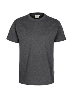 Herren Shirt in Anthrazit meliert mit Rundhals-Ausschnitt