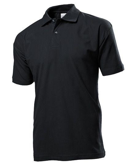 Herren Poloshirt schwarz S510