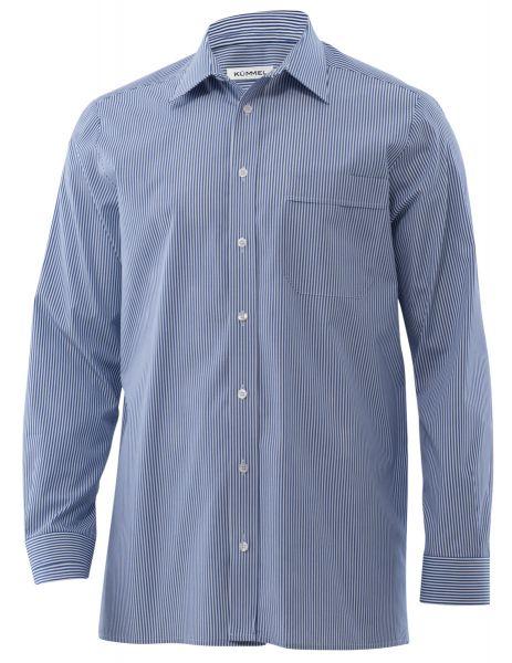 Herren Hemd blau gestreift - langarm - Sergio | KÜMMEL
