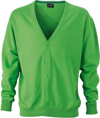 Herren Cardigan - grün
