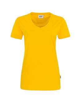 Damen Shirt in Sonne mit V-Ausschnitt
