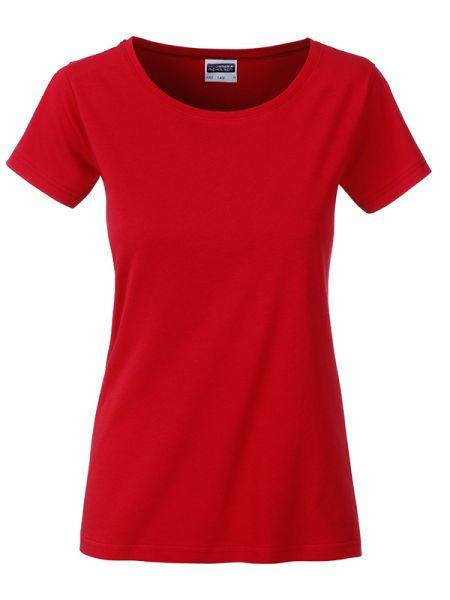 Damen Shirt red Bio-Baumwolle Tradition Daiber