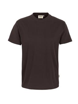 Herren Shirt in Schokolade mit Rundhals-Ausschnitt
