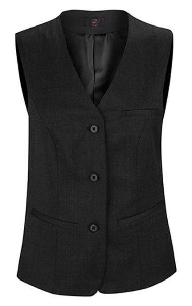 GREIFF 1249 Damen-Weste - 3 Knopf - BASIC - Comfort Fit schwarz
