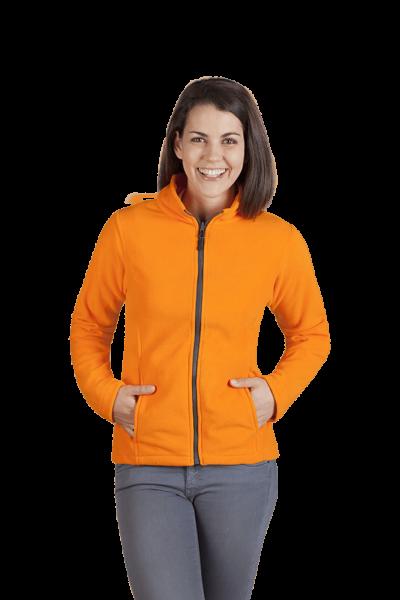 Damen Fleece Jacke orange
