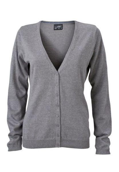 Damen Cardigan - grey-heather