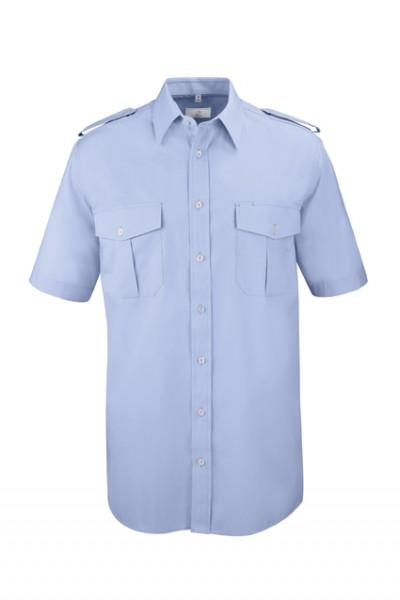 GREIFF basic - style 6603 Herren Pilothemd kurzarm comfort fit in weiß | bleu - comfort fit