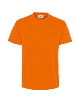 Herren Shirt in Orange mit Rundhals-Ausschnitt