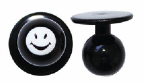 Exner Kugelknöpfe Smiley Happy - 1 Pack mit 12 Stück