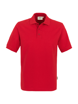 Herren Polo Performance in Rot