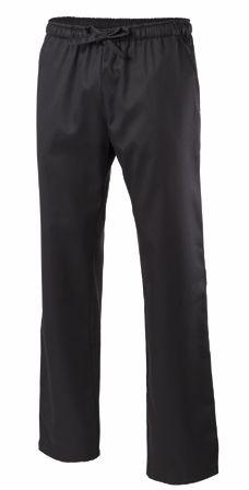 Exner Schlupfhose / Kochhose mit Dehnbund in schwarz