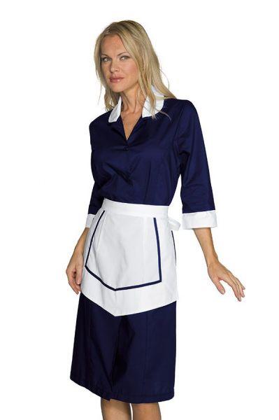 Zimmermädchenkleid marine ¾ Arm Kinshasa isacco
