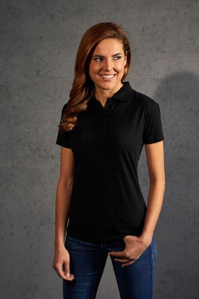 Polohemd Damen Jersey schwarz