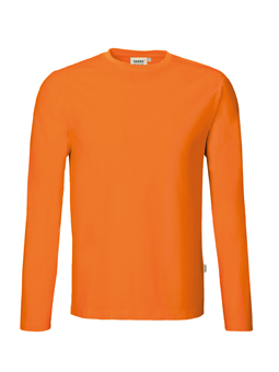 Herren Shirt langarm in Orange