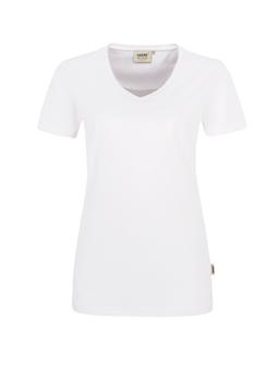 Damen Shirt in Weiß mit V-Ausschnitt