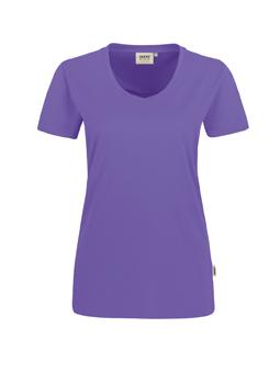 Damen Shirt in Lavendel mit V-Ausschnitt
