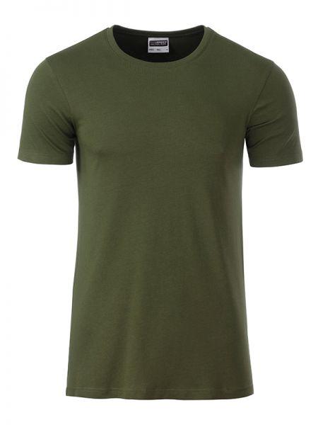 Herren Shirt olivgrün Bio-Baumwolle Tradition Daiber
