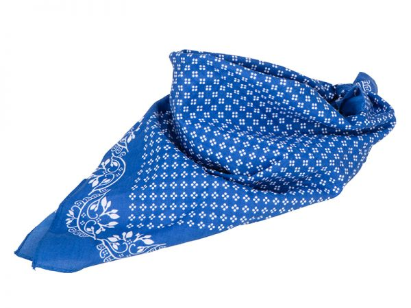 Trachtentuch blau weiß Tradition Daiber