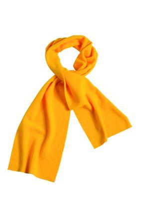 Extrabreiter Fleece Schal gelb
