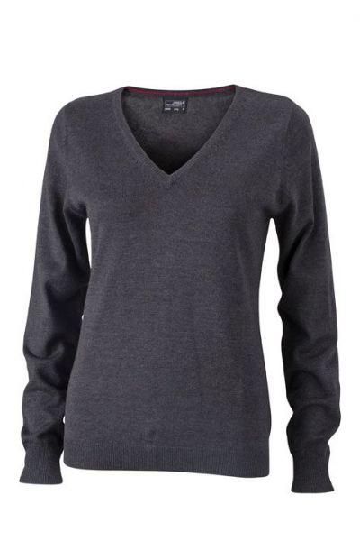 Damen Pullover - anthrazit-melange