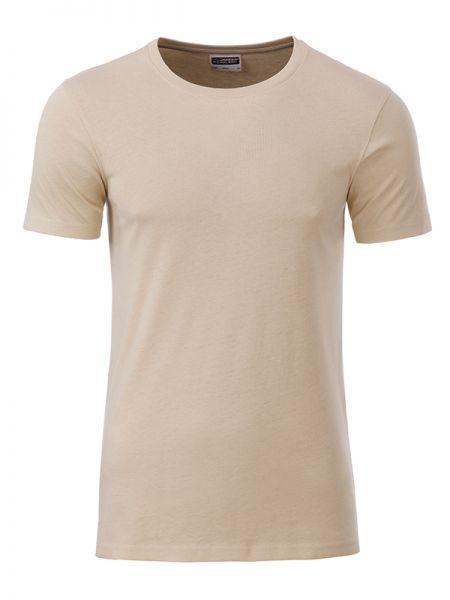 Herren Shirt beige Bio-Baumwolle Tradition Daiber