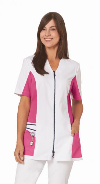 Hosenkasack in Weiß/Rosa mit Kurzarm
