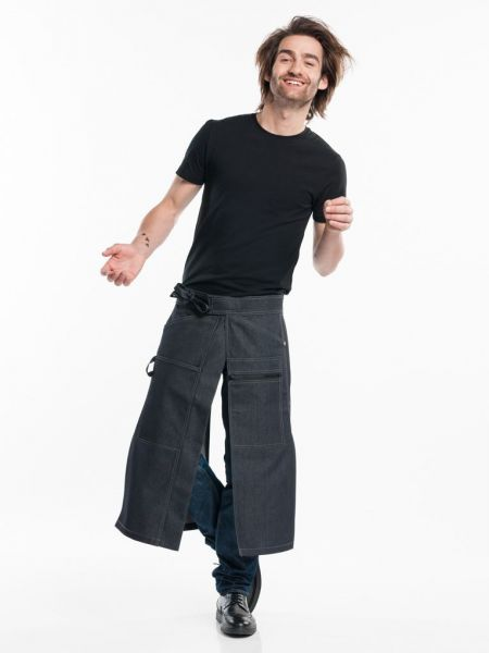 Jeans Schürze black denim - Bistroschürze Chaps