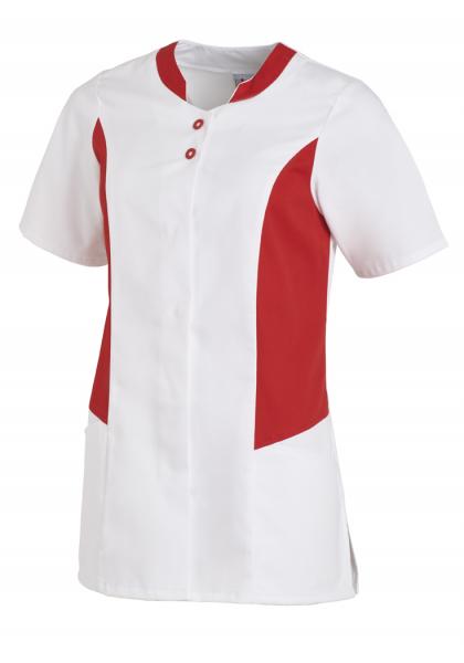 Hosenkasack mit Kurzarm in Weiß/Rot
