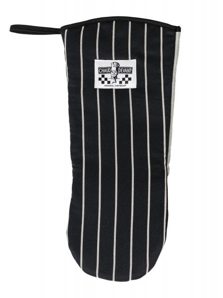 Ofenhandschuh schwarz gestreift 755 Chaud Devant