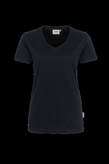 Damen V-Shirt Performance mit V-Ausschnitt - Materialmix Mikralinar - große Farbauswahl | HAKRO 181