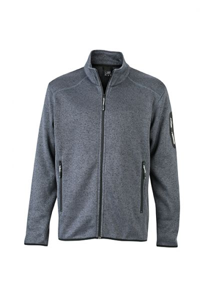 Herren Fleecejacke dark-grey-melange Tradition Daiber