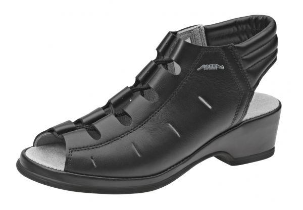 ABEBA Serviceschuh 3000 mit Absatz in schwarz
