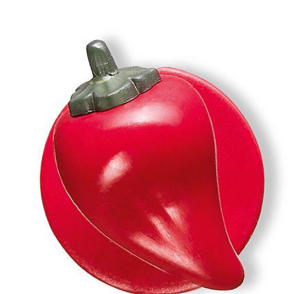 GREIFF - style 5900 Kugelknöpfe für Kochjacken - 12er Pack - Paprika rot