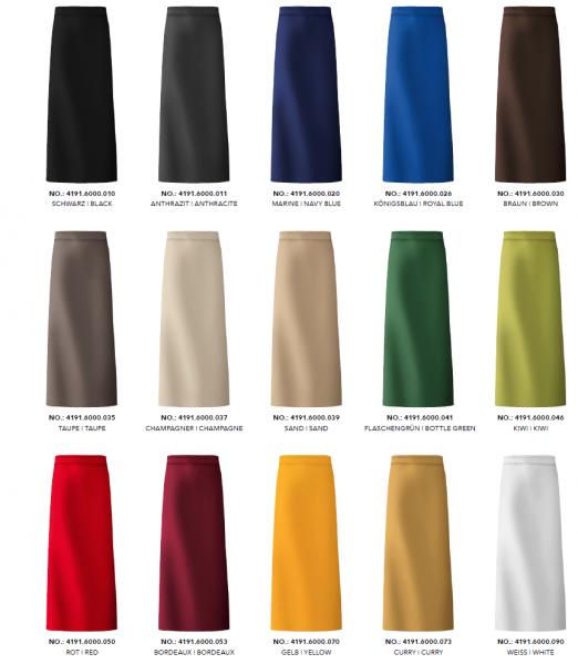 GREIFF - style 4191 Bistroschürze 100x100 in 15 Farben
