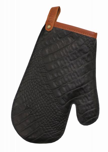 Leder - Ofen-Handschuh schwarz 666 | 97 EXNER