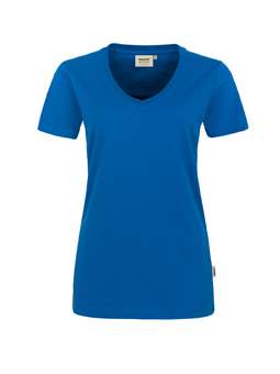 Damen Shirt in Royalblau mit V-Ausschnitt